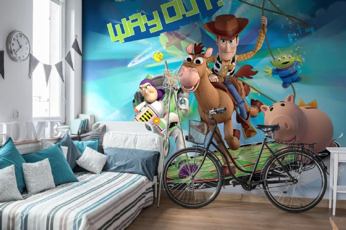 Toy Story Cartoon Wallpaper For Kids Room